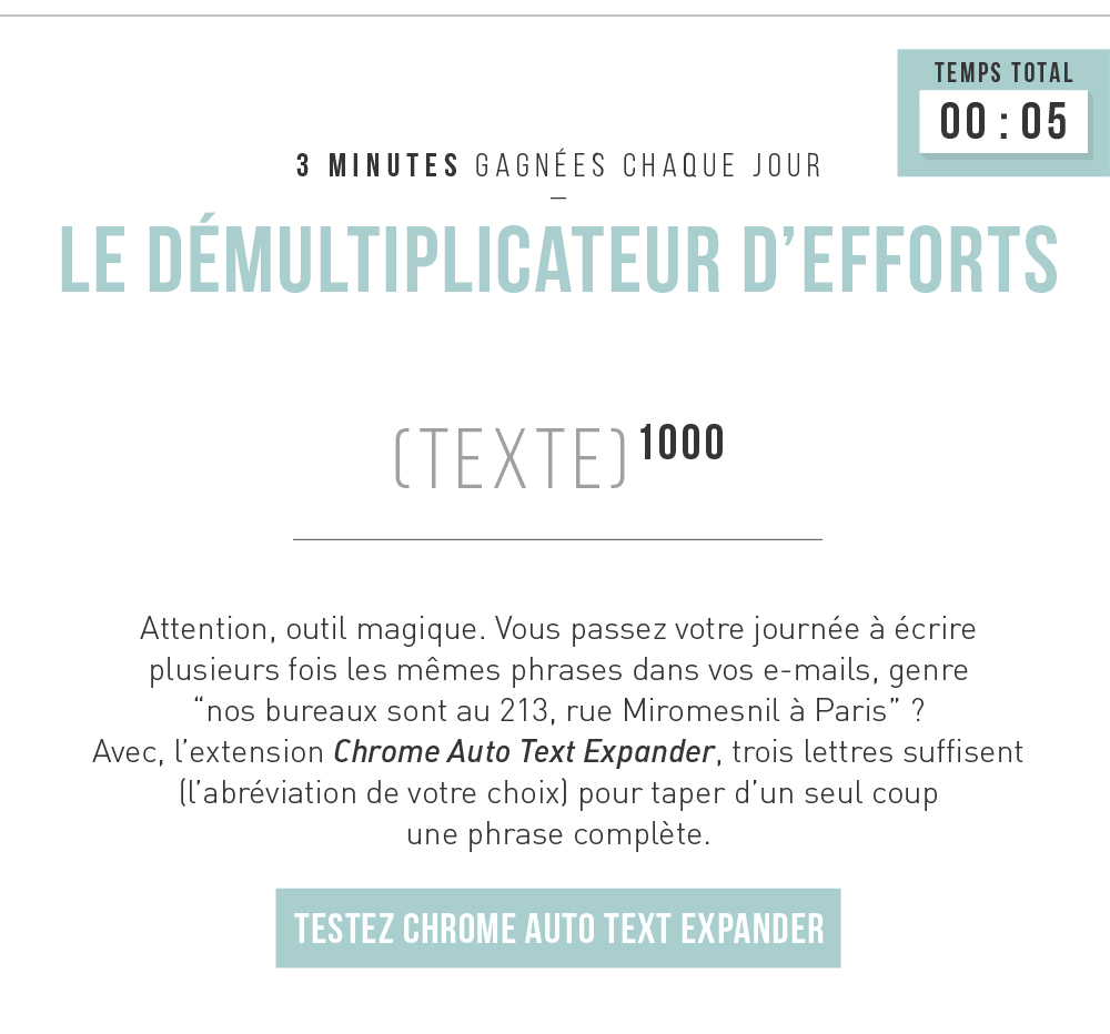 Le démultiplicateur d'efforts